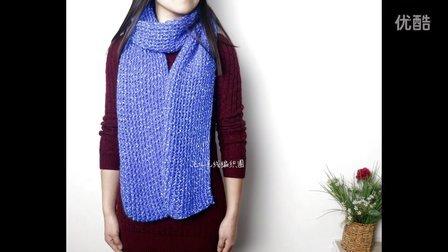 毛儿手作棒针编织水波纹围巾新手教程毛线编织简单方法