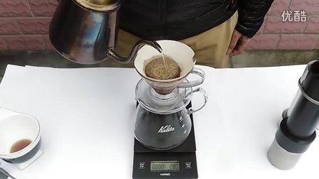V60  手冲咖啡   水洗阿瑞查  20克  研磨度 精彩手磨13格  烘培度  浅中  水温 90℃