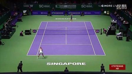 2016新加坡年终总决赛小组赛 科贝尔VS齐布尔科娃 (自制HL)