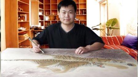 刘晓军中国工笔画虎、狮子、豹、狼动物技法视频