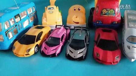 新款四驱赛车总动员 法拉利兰博基尼跑车工程车汽车玩具世界