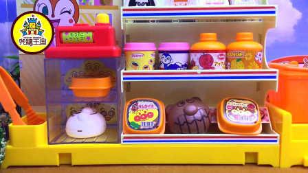 面包超人的便利店日本食玩 迷你蛋糕坊玩具介绍 亲子益智玩具 面包超人开店