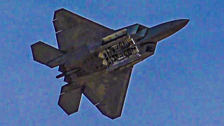 2016美国内利斯空军基地航展F-22猛禽战机精彩表演