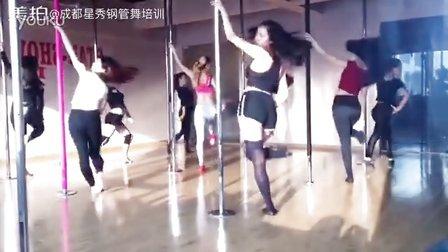 钢管舞 初级舞蹈课堂实拍 成都星秀舞蹈职业培训机构15828114429