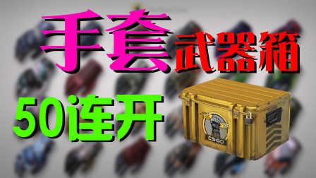 【手套武器箱50连开】拼人品的时候到了!!!CSGO反恐精英全球进攻开箱视频 by 悬总管