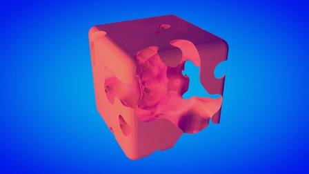 C4D教程 使用溶球加布尔做溶蚀镂空动画特效