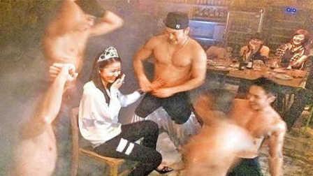林心如39岁生日派对玩的尺度够大 五位赤裸猛男围住…