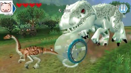 《乐高侏罗纪公园第4期 生时速霸王龙追击战》儿童游戏 糯米解说