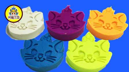 兜糖缤纷王国 2016 五只可爱的彩虹小猫咪 橡皮泥手工制作 228 五只可爱的彩虹小猫咪