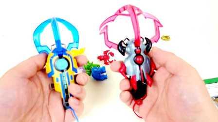 【旋转的万花筒】兽王争锋玩具分享 雷霆战爪黑焰战爪入门战斗套装!