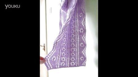 小雪蕾丝花样围巾上集毛线编织教学视频