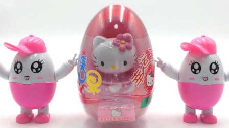玩具SHOW奇趣蛋出奇蛋 凯蒂猫奇趣蛋拆出面包超人 凯蒂猫拆出面包超人
