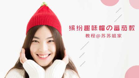【A096】苏苏姐家_棒针缤纷趣味帽_番茄款_教程怎样编织织法图解