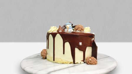 嫩食记——圣诞风淋面蛋糕