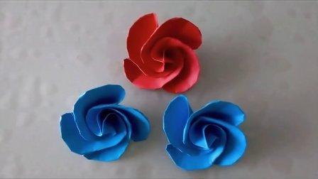 折纸教程:玫瑰花之蓝色妖姬的折法分享,超漂亮!