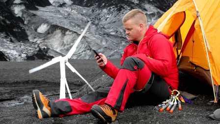 随身携带风动力 可放入登山包的风力发电机