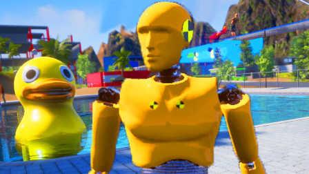 【屌德斯解说】 模拟机器人偶 刚出厂的机器人来到新世界把人类都踢上了天