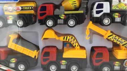 工程车玩具大全挖掘机推土机吊车油罐车