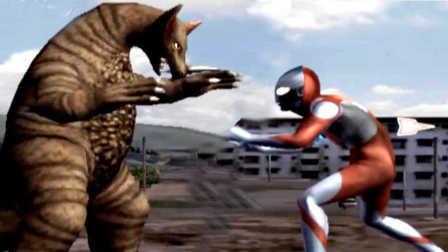 奥特曼格斗进化4 剧情模式怪兽殿下 初代奥特曼对战哥莫拉