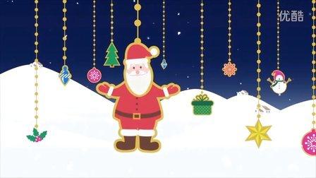 英文版商务圣诞节电子贺卡PPT模板动画flash素材视频素材片头模版AE模板外贸圣诞贺卡设计