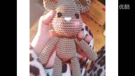 挚爱手作 钩织可爱玩偶 【暴力熊】教程 视频  毛线编织