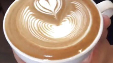 咖啡拉花 压纹爱心