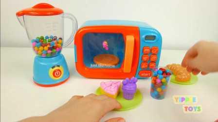 巧克力豆微波炉套装玩具 搅拌机