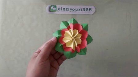 亲子手工之绿叶小红花的做法分享留着教孩子
