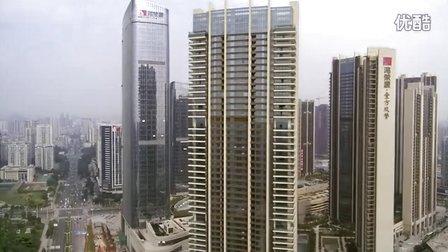 航拍深圳宝安中心区