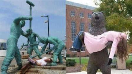盘点那些被玩坏的雕像!【笑料百出】249