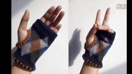 【猫线团】毛线与袜子结合的手套