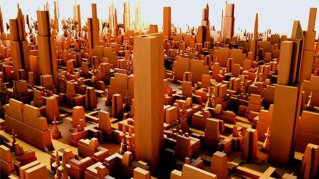 C4D教程 如何轻松简单的建造一个城市建筑群模型