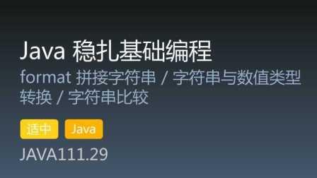 JAVA111.29 - Java 稳扎基础编程 第29集