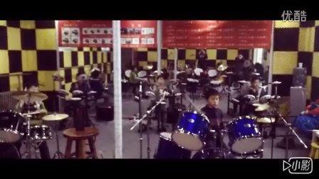 鼓知音架子鼓培训中心,鼓乐队排练作品《We will rock you 》
