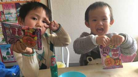 【happy face】【children】面包超人 面包超人软糖 3岁的特蕾西和2岁的史蒂夫