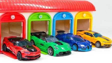 赛车总动员变形 汽车 玩具 变形金刚  红色绿色蓝色黄色颜色变压器4 AOE大黄蜂漂移十字线