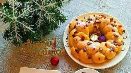 圣诞节到了,教你做花环面包