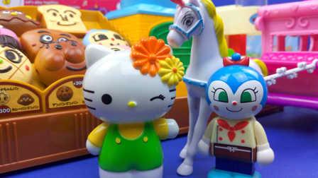 HelloKitty 凯蒂猫 会唱歌的马车 面包超人 会唱歌的面包店