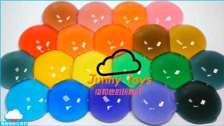 如何使 布丁做法 颜色果冻 颜色雨下降果冻颜色果冻布颜色丁婴儿娃娃洗澡时间玩 【 俊和他的玩具们 】