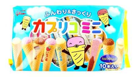 【旋转的万花筒】日本零食分享 固力果慕斯甜筒 三种口味巧克力 草莓和香草!