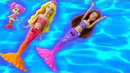 小不点的玩具 2016 芭比之美人鱼历险记之美人鱼芭比海上冲浪表演 芭比之美人鱼历险记4