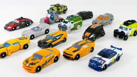变形金刚野兽军团迷你大黄蜂擎天柱 玩具汽车 [迷你特工队之英雄的变形金刚] Transformers  Bumblebee Optimus Prime