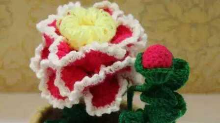 手工编织牡丹太阳花是领导朋友闺密礼物