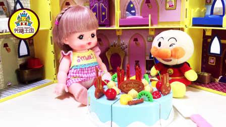 姐姐讲故事 2016 面包超人五岁生日蛋糕切切乐 面包超人五岁生日蛋糕