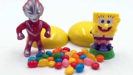玩具SHOW奥特曼 欧布奥特曼和海绵宝宝数糖果 亲子游戏过家家 欧布奥特曼海绵宝宝数糖果