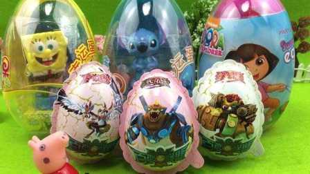 粉红猪小妹玩具 小猪佩奇 拆猪猪侠百变联盟 惊喜蛋 奇趣蛋玩具