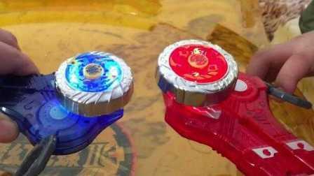 【动漫卡通亲子玩具】魔幻陀螺2玩具 焰天火龙王对战深海冰龙陀螺玩具