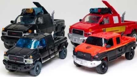 小汽车玩具游戏 变压器G1红颜色铁皮VS黑色铁皮领导者汽车卡车 玩具汽车 赛车总动员第  小汽车玩具游戏