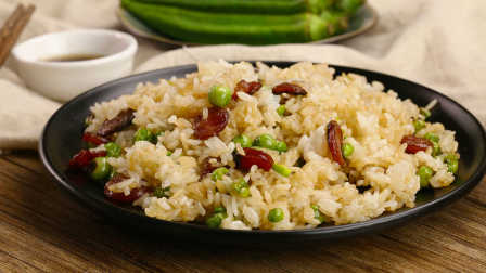 太阳猫早餐 第一季 广式腊肠炒饭配海鲜菇番茄汤 213