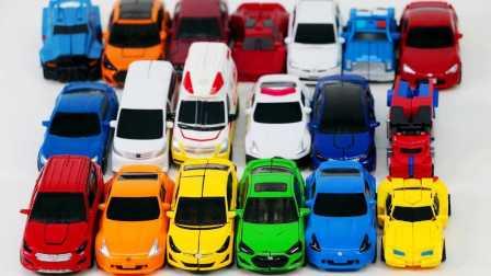 迷你玩具车 汽车机器人 魔术玩具 变压器大黄蜂汽车车微型汽车  魔幻车神